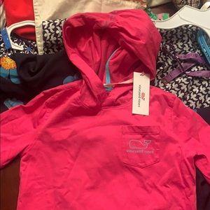Girls long sleeve hooded t-shirt size 10-12 medium